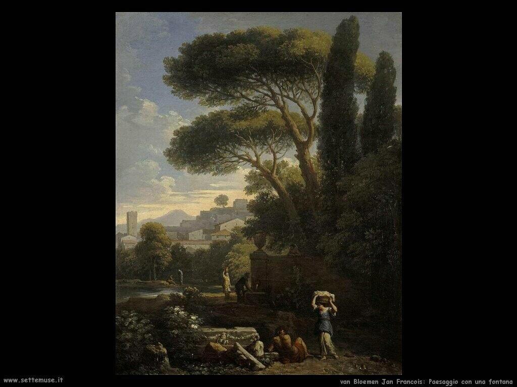 Van Bloemen Jan Frans Paesaggio con fontana