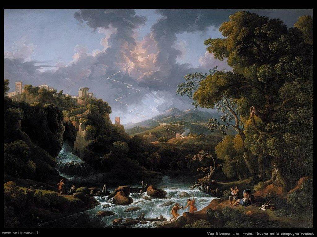 Van Bloemen Jan Frans Una scena della campagna romana