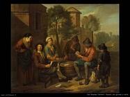 Van Bloemen Norbert Contadini che giocano a carte