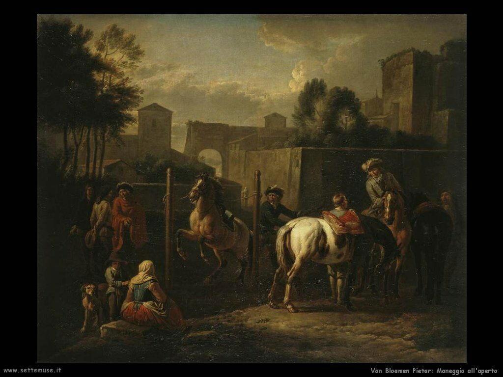 Van Bloemen Pieter Maneggio all'aperto