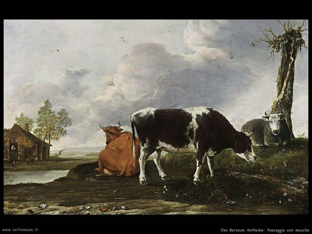 Van Borssum Anthoine Paesaggio con mucca