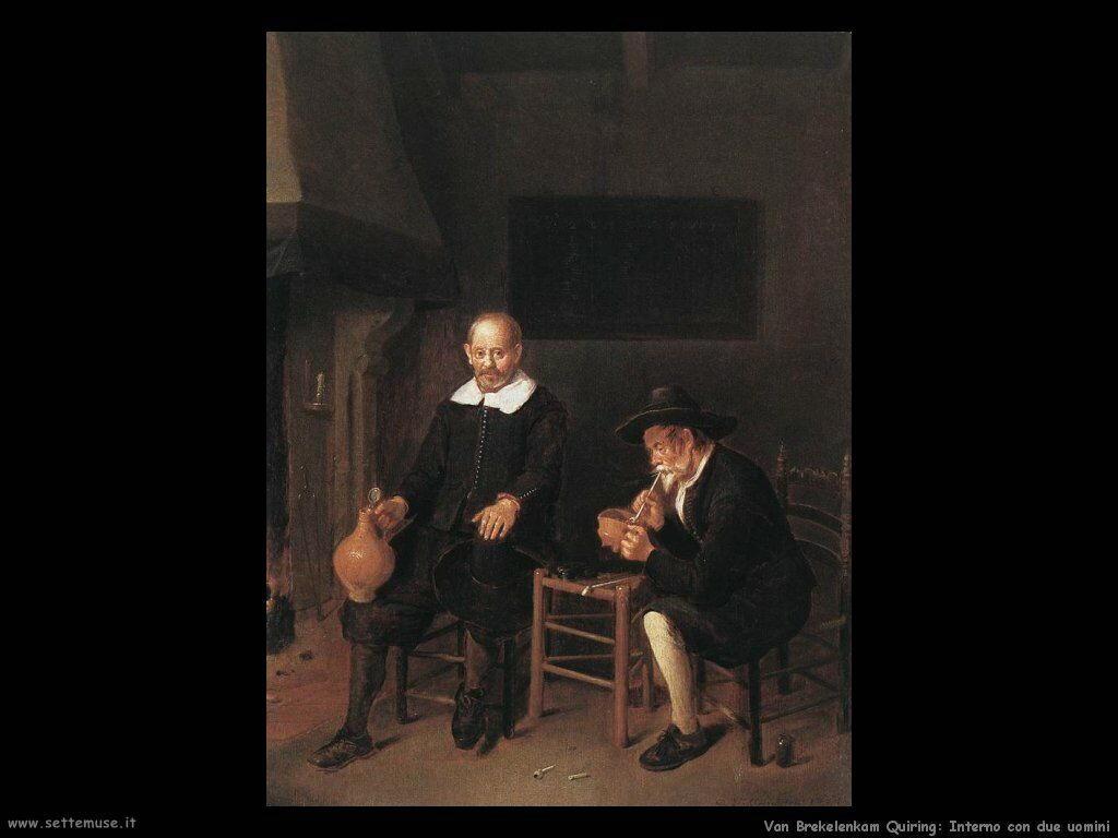 Van Brekelenkam Quiringh Interno con due uomini