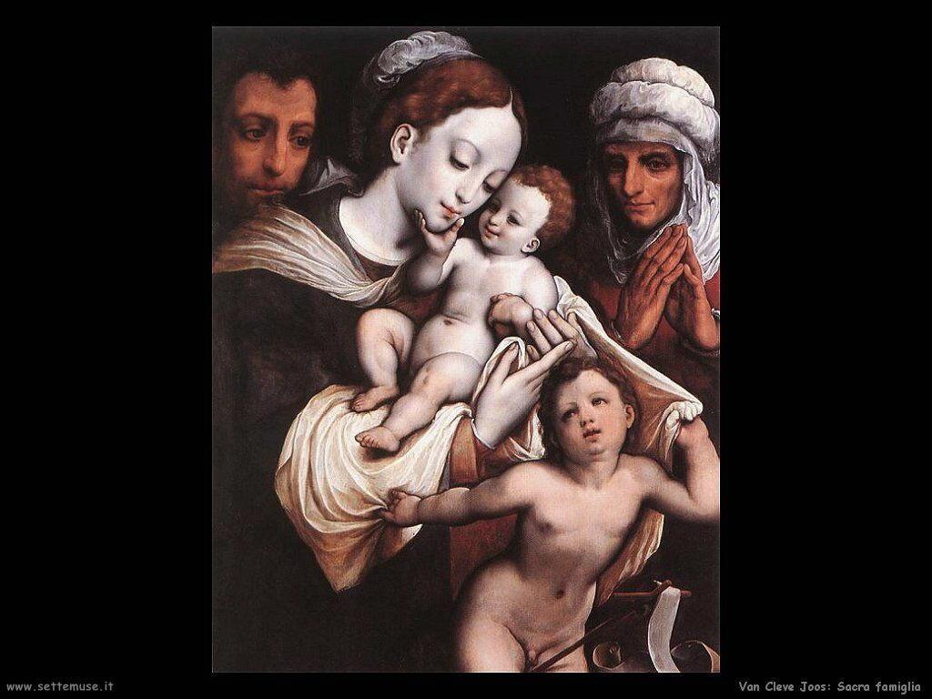 Van Cleve Joos Sacra Famiglia