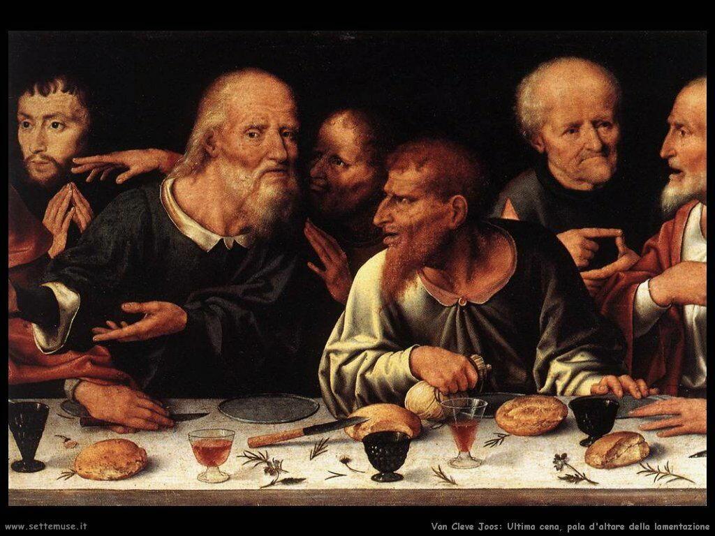 Van Cleve Joos Lamentazione  (dettaglio Pala d'altare)