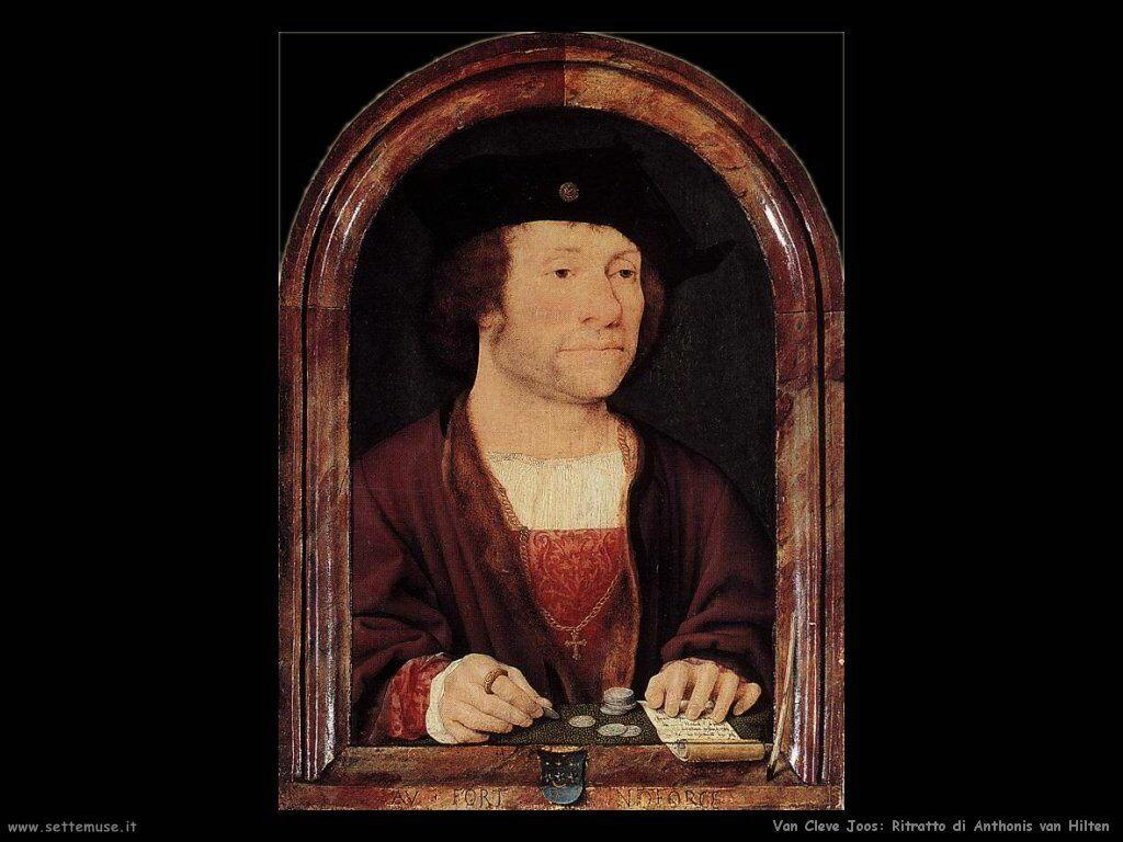 Van Cleve Joos Ritratto di Antonis Van Hilten