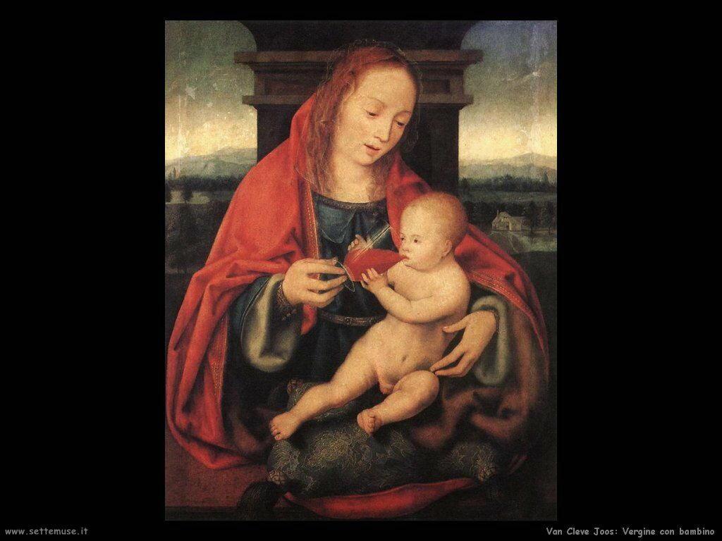 Van Cleve Joos Vergine e Figlio
