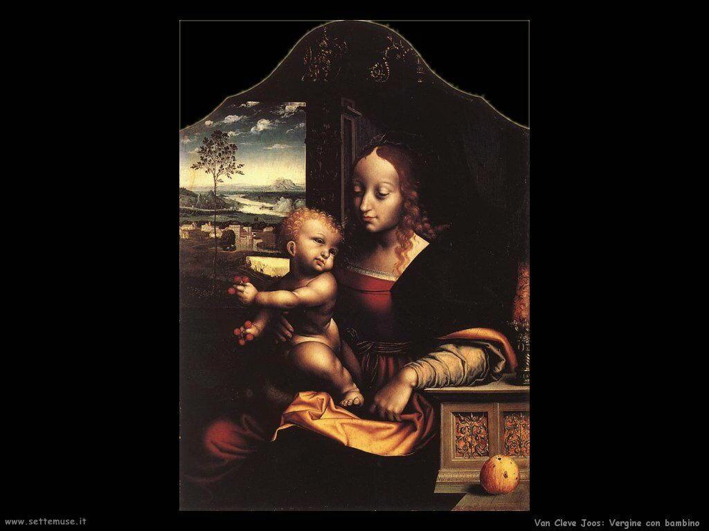 Van Cleve Joos Vergine con Bambino