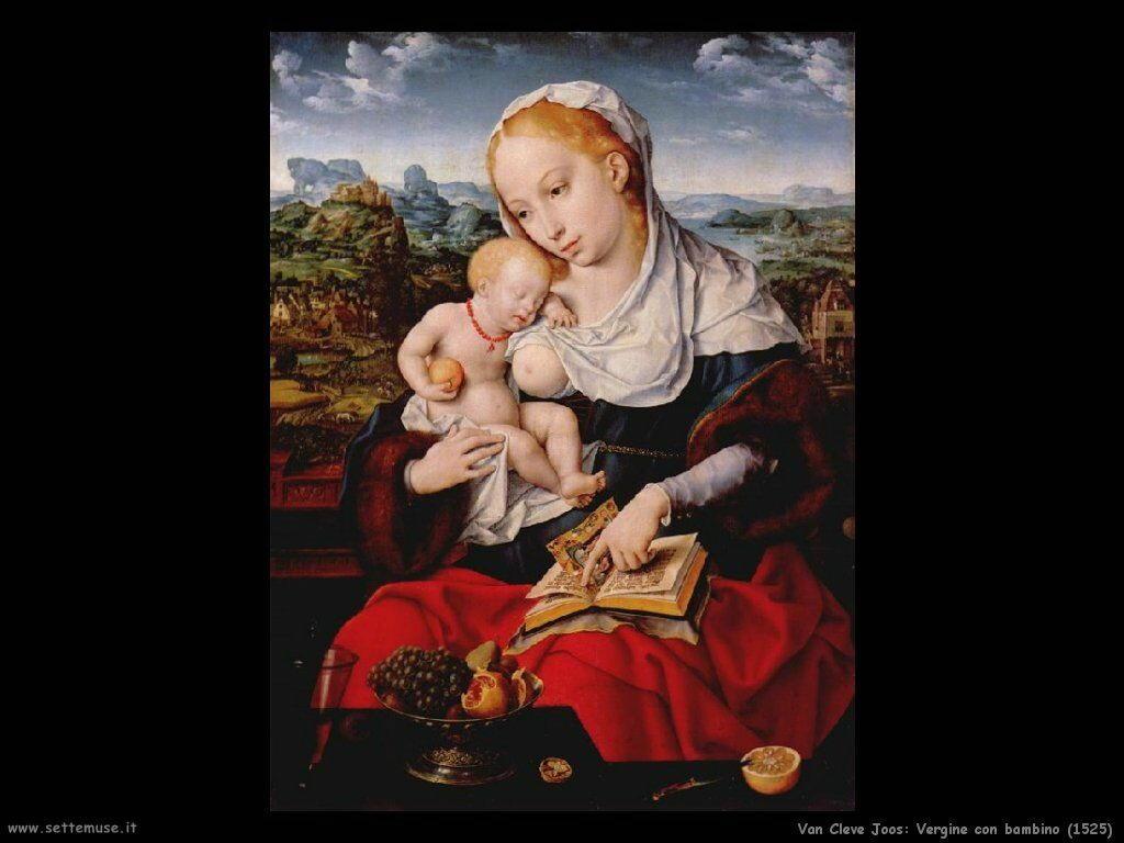 Van Cleve Joos Vergine con Bambino (1525)