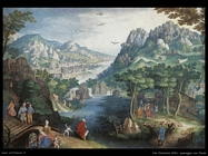Van Coninxloo Gillis Paesaggio montano con fiume a valle