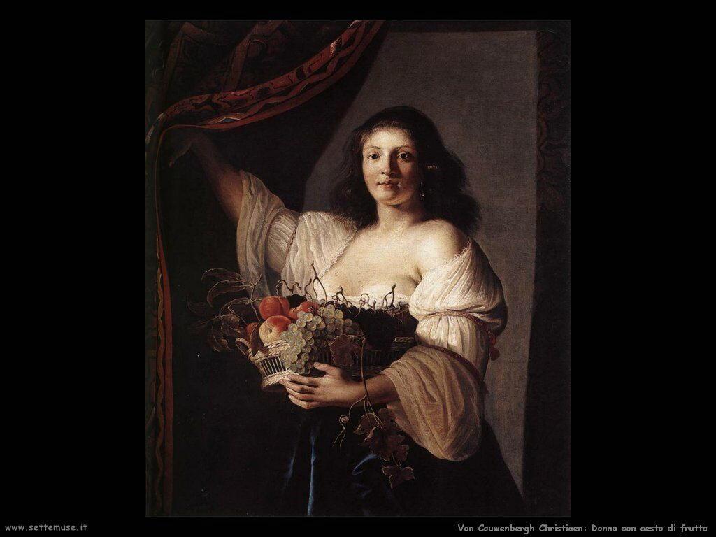 Van Couwenbergh Christiaen Donna con cesto di frutta