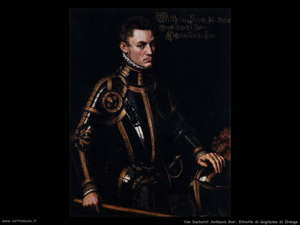 Van Dashorst Anthonis Mor Ritratto di Guglielmo d'Orange