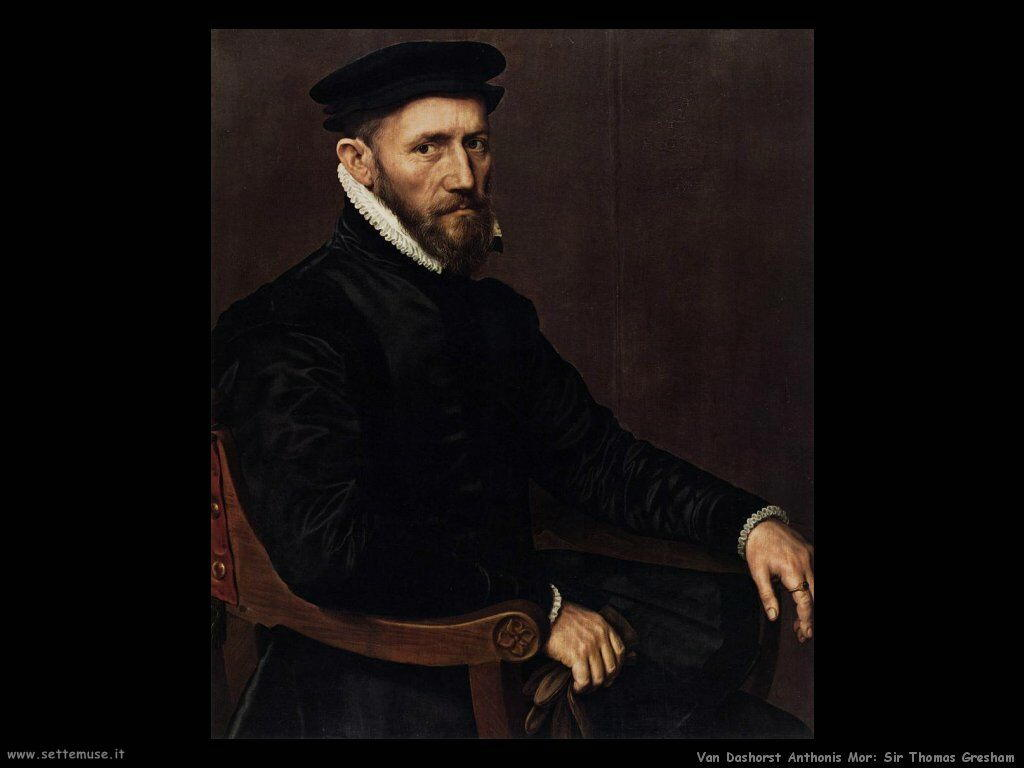 Van Dashorst Anthonis Mor Ritratto di Thomas Gresham