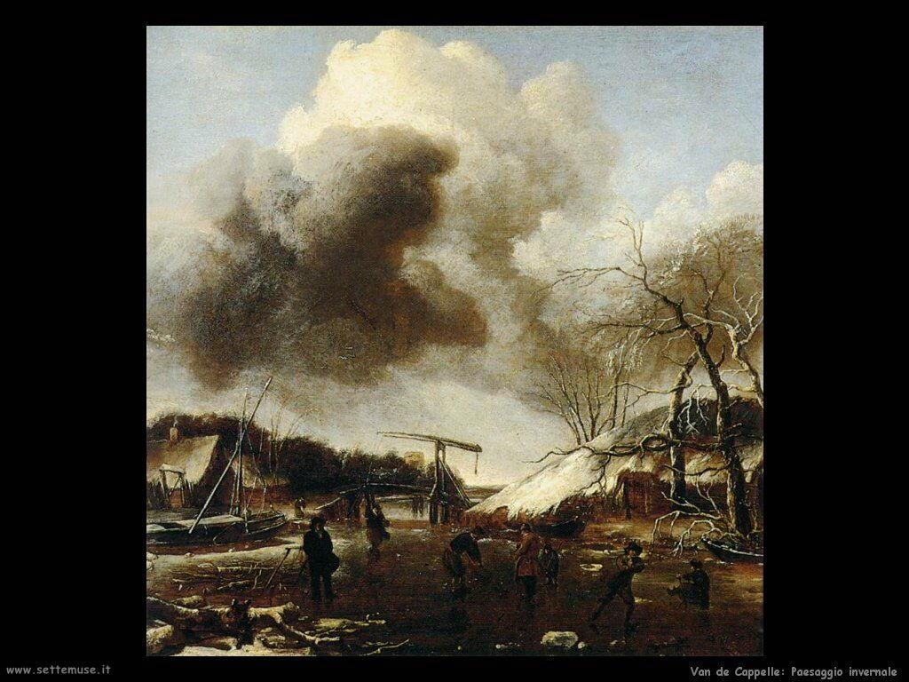 Van de Cappelle Jan Paesaggio invernale