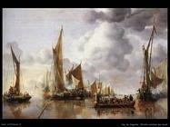 Van de Cappelle Jan La barca delle Stato salutata dal Ponte