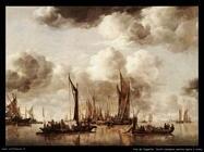 Van de Cappelle Jan Yach olandese spara una salva