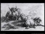 Van De Velde Adriaen Una mucca e tre pecore