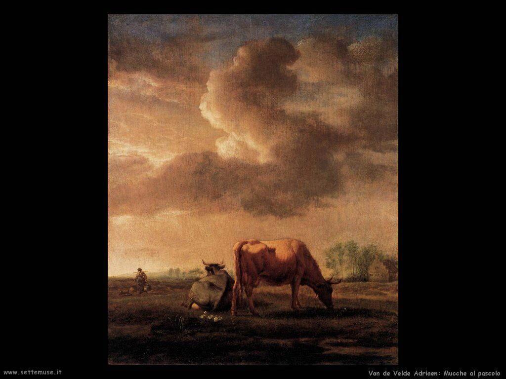 Van De Velde Adriaen Mucche al pascolo