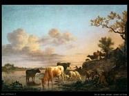 Van De Velde Adriaen Animali sul fiume