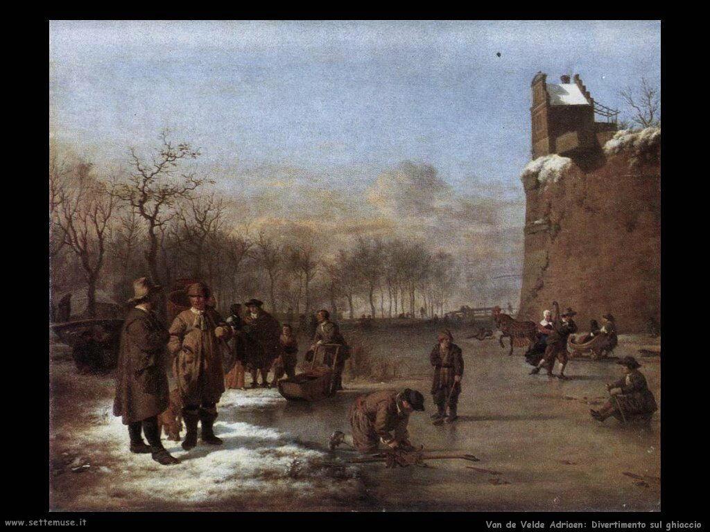 Van De Velde Adriaen Divertimento sul ghiaccio
