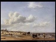 Van De Velde Adriaen La spiaggia di Scheveningen