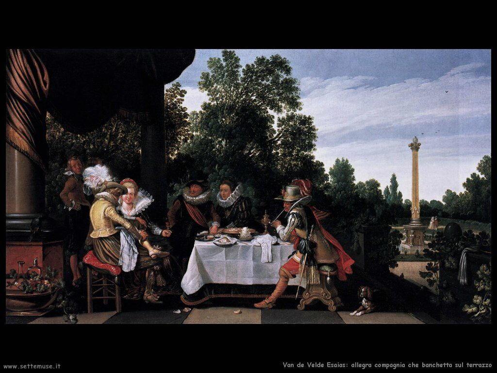 Van De Velde Esaias Banchetto in terrazza
