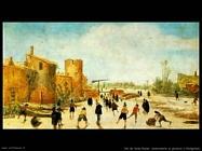 Van De Velde Esaias La gioia del ghiaccio sulla Wallgraben