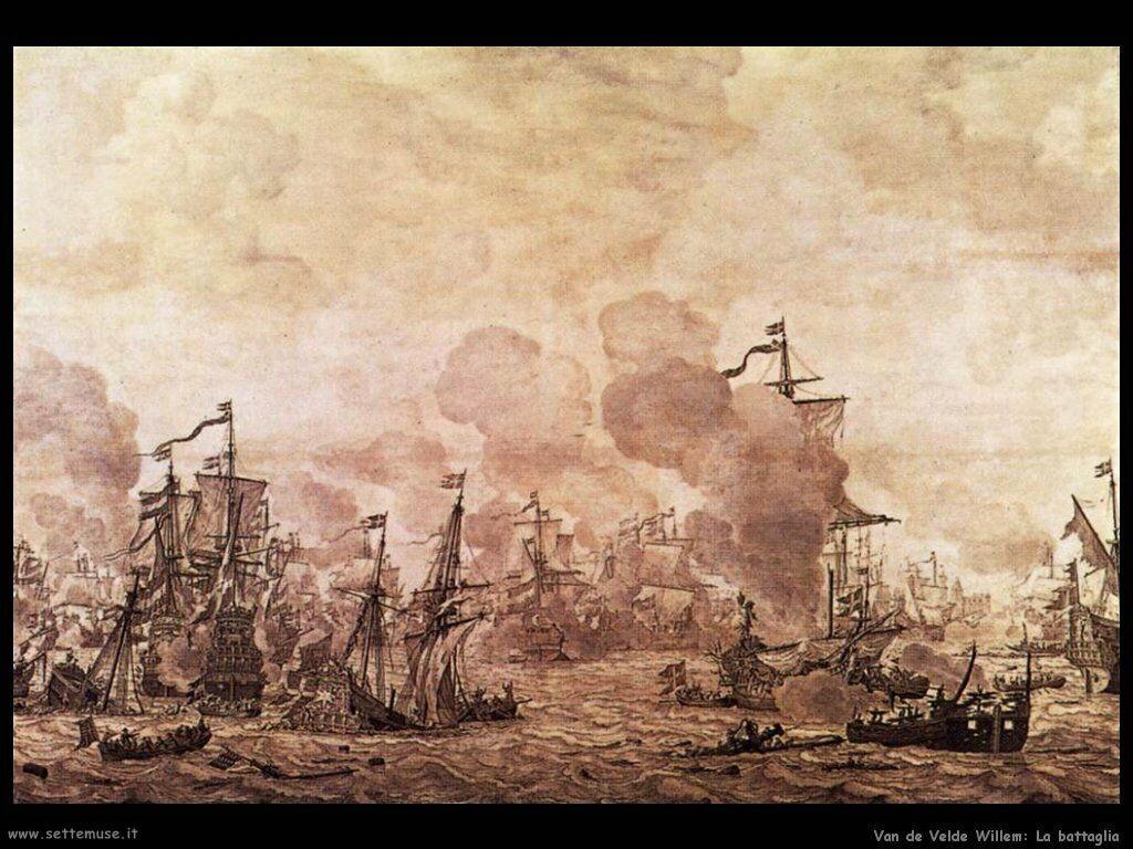 Velde Willem the Younger La battaglia del suono