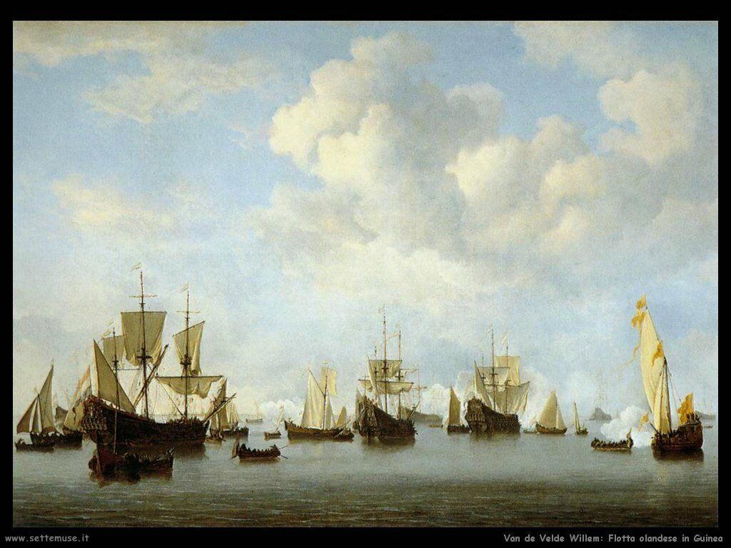 Velde Willem the Younger La flotta Olandese nello stretto di Guinea