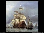 Velde Willem the Younger La presa della nave ammiraglia del principe reale inglese (dett)