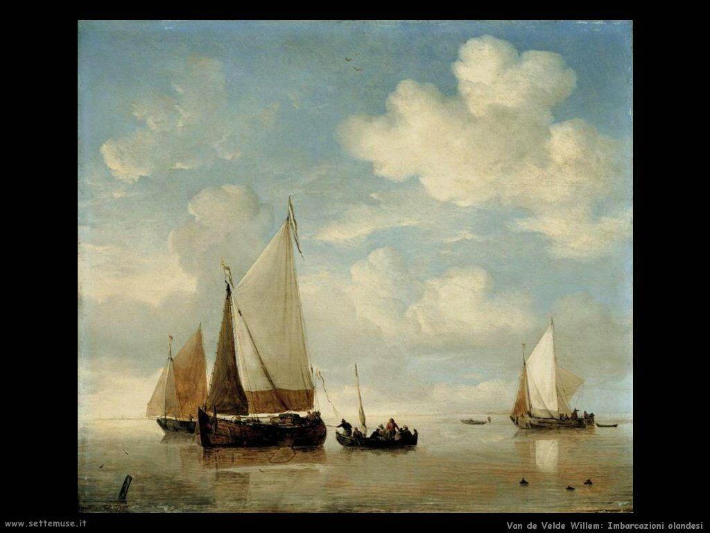 Velde Willem the Younger Piccole navi olandesi