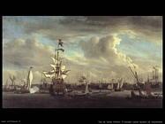 Velde Willem the Younger Il Gouden Leeuw prima di Amsterdam