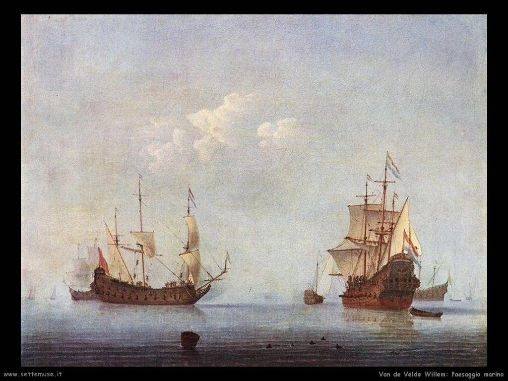 Velde Willem the Younger Paesaggio marinaro