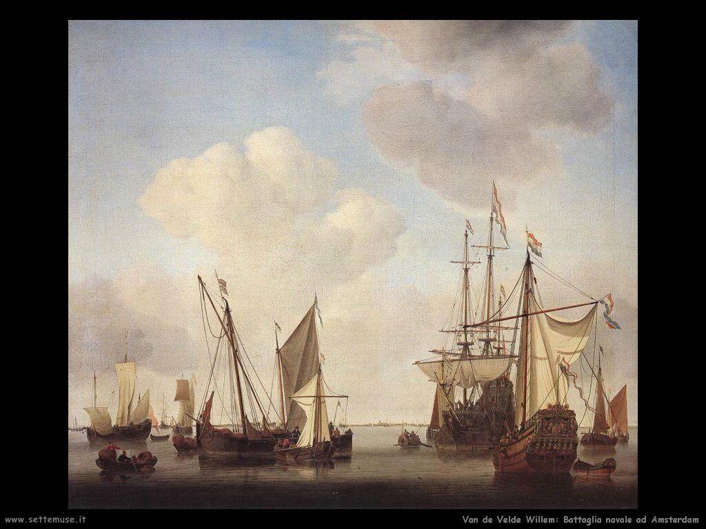 Velde Willem the Younger Battelli ad Amsterdam