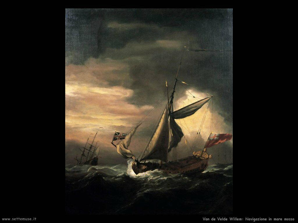 Velde Willem the Younger Trasporto in mare grosso