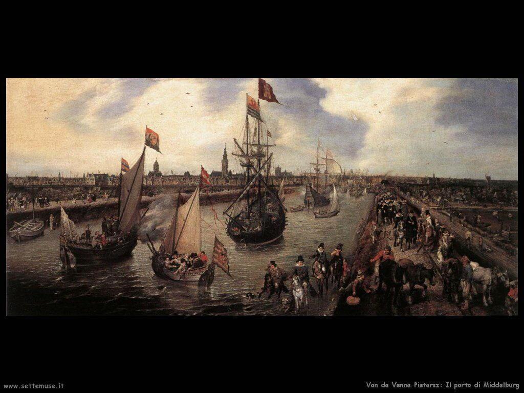 Van De Venne Pietersz La Baia di Middelburg
