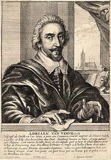 Autoritratto di Van de Venne Pietersz