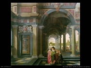Van Delen Dirck Cortile del Palazzo con figure