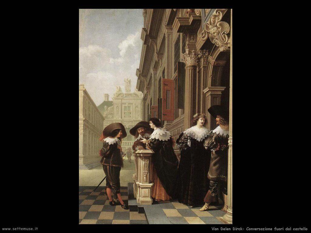 Van Delen Dirck Conversazione fuori dal castello