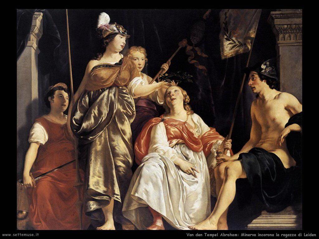 Van Den Tempel Abraham Minerva incorona la governante di Leiden
