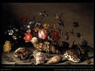 Natura Morta di fiori con conchiglie e insetti Van Der Ast Balthasar
