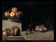 Van der Hamen Juan Natura morta con frutti e brocche in vetro