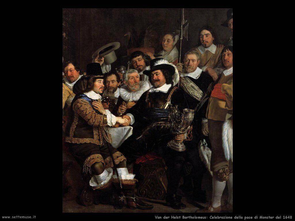 Van der Helst Bartholomeus Celebrazione Pace di Monster del 1648