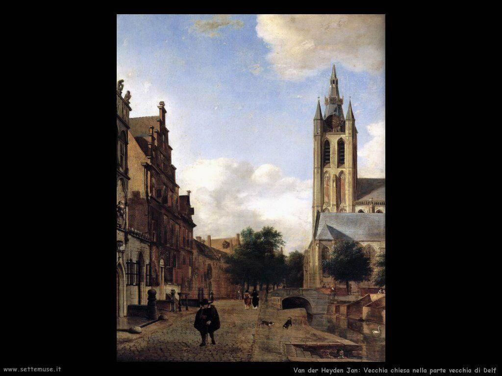 La vecchia chiesa di Delft Van Der Heyden Jan