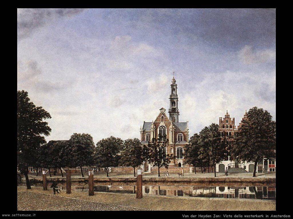 Vista  della Westerkerk di Amsterdam Van Der Heyden Jan