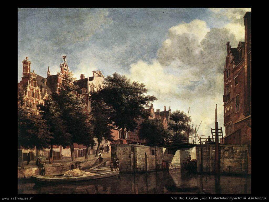 Il Martellasgracht in Amsterdam Van Der Heyden Jan