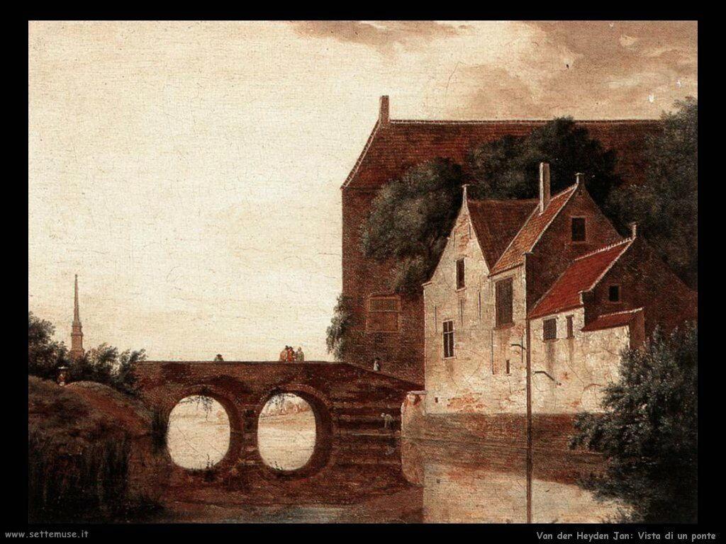 Vista di un ponte Van Der Heyden Jan