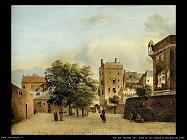 Vista di una piccola piazza della città Van Der Heyden Jan