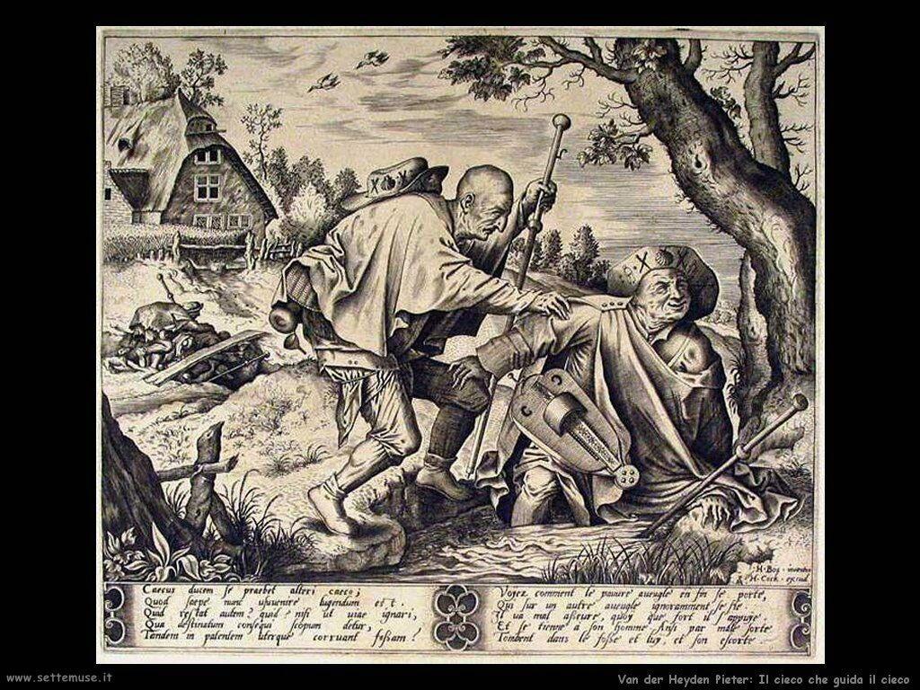 Van der Heyden Pieter Cieco che guida il cieco