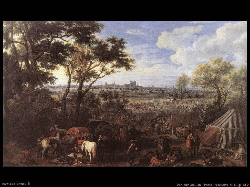 Van der Meulen Frans Esercito di Luigi XVI