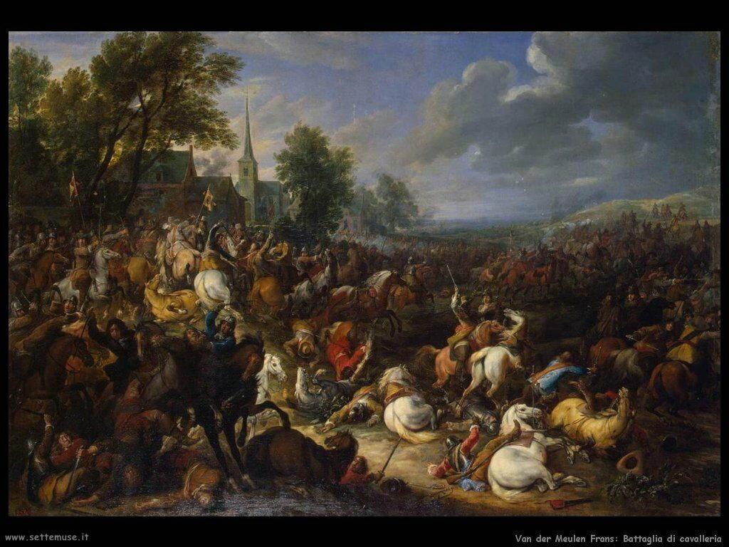 Van der Meulen Frans Battaglia di cavalleria